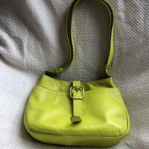 Furla bright green purse (used)